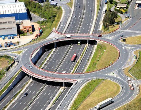 Terceros carriles de la autopista A-8 - 1
