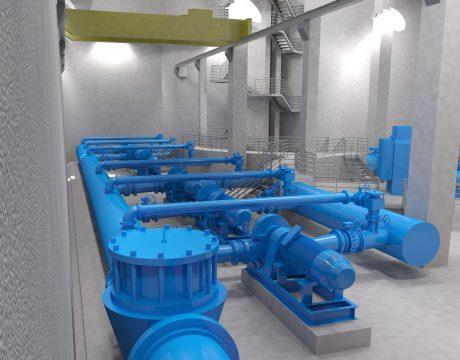 Reversible installation of water pumping and turbining at Bolueta - 1