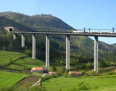 """Línea de Alta Velocidad Y-Vasca. Tramo: Elorrio-Atxondo"""" - 1"""