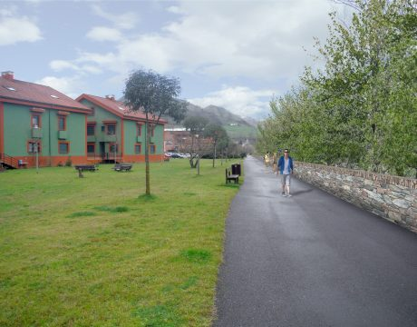 Defence against flooding in Arriondas - 2